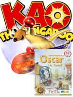 Hra pre PC Kao the Kangaroo - Oscar vzduchoplavec Na farmě