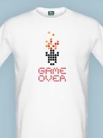 Herné tričko tričko Game Over (veľkosť M)