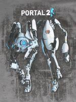Herné tričko Tričko Portal 2 - Atlas & P-body (veľ. L)