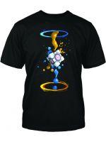 Herné tričko Tričko Portal 2: Gel Splatter (americká veľ. S / európska S-M)