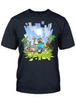 Herné tričko Tričko Minecraft Adventure (americká veľ. S / európska M)