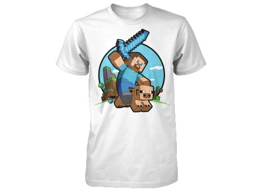 8a9c035619c4 Tričko Minecraft Pig Riding (americká veľ. detské S) Herné oblečenie