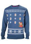Mikina Mario Christmas (modrá) (veľ. XXL)