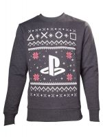 Herné tričko Mikina PlayStation Christmas (šedá) (veľ. S)