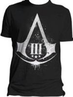 Herné tričko Tričko Assassins Creed III - Distressed Shield (veľ. L)