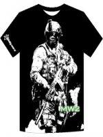 Herné tričko Tričko CoD6 Modern Warfare 2 Soldier black (americká vel. XL)