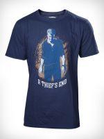 oblečení pro hráče Tričko Uncharted 4: Nathan Drake Boxcover - modré (vel. M)