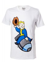 Herné tričko Tričko Fallout 4: Vault Boy - Bomber (veľ. M)