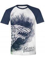 oblečení pro hráče Tričko Game of Thrones: Painted Stark Raglan (vel. L)