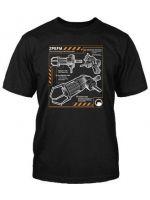 Herné tričko Tričko Half Life 2: Gravity Gun Blueprint (americká veľ. L / európska XL)
