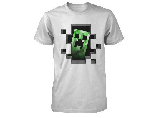 f7154aeadf70 Tričko Minecraft Creeper Inside - šedé (americká veľ. detské S ...