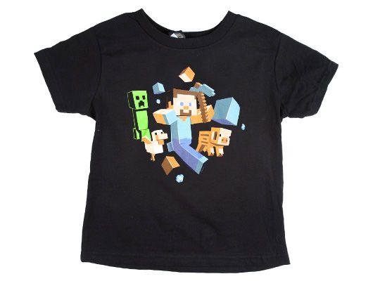 4edf018a8b7e Tričko Minecraft Run Away! - čierne (am. veľ. detské S) svieti v tme ...