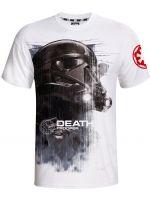 Herné tričko Tričko Star Wars: Death Trooper (biele) (veľ. S)