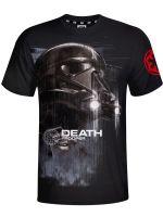 oblečení pro hráče Tričko Star Wars: Death Trooper (černé) (vel. XL)