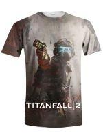 oblečení pro hráče Tričko Titanfall 2: Jack Full Printed (vel. XL)