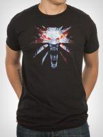 Herné tričko Tričko Witcher 3: Medallion (americká veľ. S / európska S-M)