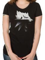 oblečení pro hráče Tričko Zaklínač: Silhouette (dámské) (americká vel. M / evropská M-L)