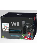 Príslušenstvo pre Nintendo Wii Konzola Nintendo Wii (čierna) - Mario Kart Wii Pack