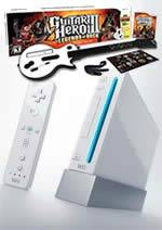 Príslušenstvo pre Nintendo Wii Konzola Nintendo Wii (biela) - Guitar Hero Pak