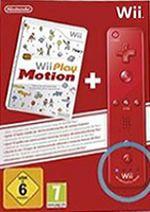 Príslušenstvo pre Nintendo Wii Wii diaľkový ovládač so zabudovaným Motion Plus (červený) + Wii Play: Motion