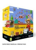 Príslušenstvo pre Nintendo WiiU Konzola Nintendo Wii U (čierna) Premium + Super Mario Maker + figúrka Amiibo