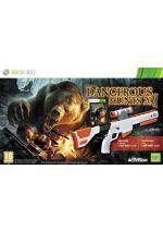 Hra pre Xbox 360 Cabelas Dangerous Hunts 2011 + puška