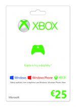 Hra pre Xbox 360 X360 Live predplatená karta - 25€