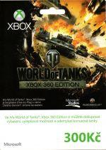 X360 Live Předplacená karta - 300 Kč (World of Tanks)