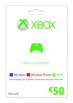 Hra pre Xbox 360 X360 Live predplatená karta - 50€