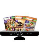 Prislušenstvo pre XBOX 360 Pohybový senzor Kinect + 3 hry