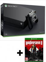 Príslušenstvo ku konzole Xbox One XBOX ONE X - herná konzola (1TB) + Wolfenstein II: The New Colossus