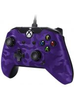 Příslušenství ke konzoli Xbox One Ovladač drátový PDP pro Xbox One a Windows - Purple Camouflage