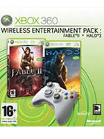 Hra pre Xbox 360 Wireless Entertainment Pack (bezdrôtový gamepad + 2 hry)