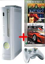 Prislušenstvo pre XBOX 360 XBOX 360 - herná konzola (premium) + 3 Classic hry