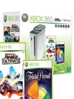 Prislušenstvo pre XBOX 360 XBOX 360 - herná konzola (60GB) + Burnout Paradise The Ultimate Box + Trivial Pursuit dupl