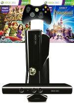 Prislušenstvo pre XBOX 360 XBOX 360 Slim - herná konzola (4GB) + ovládač Kinect + Disneyland Adventures