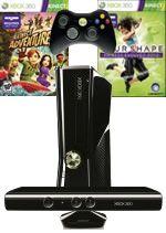 Prislušenstvo pre XBOX 360 XBOX 360 Slim - herní konzole (4GB) + ovládač Kinect + Kinect Adventures + Your Shape - Fitness Evolved 2012