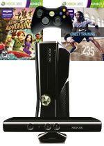 Prislušenstvo pre XBOX 360 XBOX 360 Slim - herná konzola (4GB) + ovládač Kinect + Kinect Adventures + Fitness Nike Kinect training
