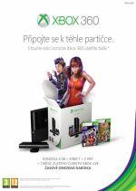 Prislušenstvo pre XBOX 360 XBOX 360 Slim Stingray – herná konzola (4GB) + senzor Kinect + Kinect Adventures + Dance Central 3 + 1 mesiac Xbox Live GOLD