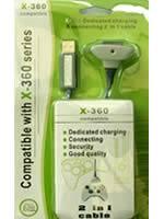 Prislušenstvo pre XBOX 360 Nabíjací kábel 2 v 1