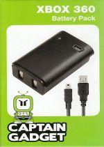 Prislušenstvo pre XBOX 360 XBOX 360 Play & Charge Kit (Captain Gadget) (čierny)