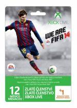 Hra pre Xbox 360 XBOX 360 - 12 mesiacov XBOX Live GOLD + 1 mesiac zadarmo (vzhľad FIFA 14)