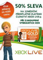 Hra pro Xbox 360 XBOX 360 - 12 měsíců XBOX Live GOLD (jen při koupi s hrou)
