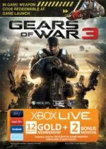 Hra pre Xbox 360 XBOX 360 - 12 mesiacov XBOX Live GOLD (Gears of War 3 edícia) + 2 mesiace zadarmo
